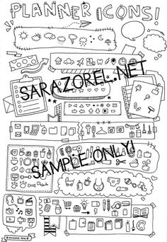 Doodle with Me : Printables (Set A - Borders, Banners, Buntings, Bows and…