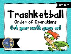 Order of Operations Trashketball math game (I like the rules for this game) Fifth Grade Math, Sixth Grade, Numerical Expression, Math Expressions, Framed Words, Order Of Operations, Math Graphic Organizers, Math Word Problems, Teaching Math