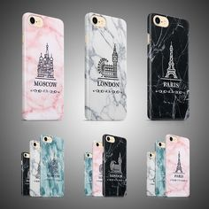 New Phone Cases Covers Marble London Paris Moscow for iPhone 6, 6S, 7 models !!