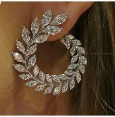 Luxury Olive Branch Wheat Simulate Diamond Engagem - Women& Jewelry and Accessories - Luxury Olive Branch Wheat Simulate Diamond Engagem – - Ear Jewelry, Bridal Jewelry, Silver Jewelry, Fine Jewelry, Jewellery Earrings, Silver Ring, Flower Jewelry, Amethyst Jewelry, Vintage Jewelry