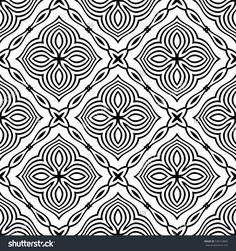 Vector Ornamental Seamless Line Pattern. Endless Texture. Oriental Geometric Ornament