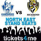 #Ticket  NORTH MELBOURNE KANGAROOS v RICHMOND TIGERS SEATS TICKETS AFL FOOTBALL FOOTY #Australia