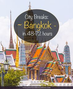A city breaks guide to visiting Bangkok, Thailand in Hours. Including things to do in the city, getting around, restaurant and hotel suggestions and more. Thailand Honeymoon, Thailand Travel Tips, Asia Travel, Bangkok Thailand, Koh Phangan, Pattaya, Chiang Mai, Phuket, Thai Islands