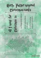 Poppy Makes... Harry Potter inspired Christmas cards. On my blog you'll 8 FREE to download Christmas cards. Including these Slytherin inspired ones. Have fun!  #PoppyMakes #DIY #Craft #Crafting #FREE #Printable #Template #Xmas #Christmas #ChristmasCards #HarryPotterChristmasCard #HarryPotterQuote #HarryPotter #Ron #Hermione #Dumbledore #Dobby #HP #8DaysTillChristmas #LinkInBio