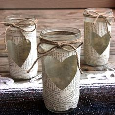 mason jars - we should make these Hayy.