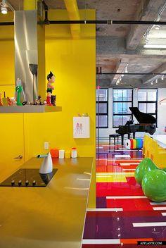'Prismatic Colours' Loft // Jean Verville   Afflante.com