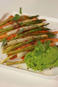 """Het lekkerste recept voor """"Puree van zoete aardappel met gegrilde groenten"""" vind je bij njam! Ontdek nu meer dan duizenden smakelijke njam!-recepten voor alledaags kookplezier!"""