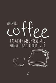 WARNING COFFEE- Free Printable