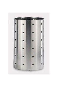 Quadro Waste Paper Basket, Silver