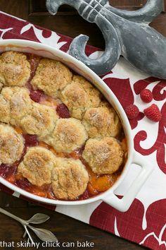 Peach Raspberry Cobbler #BonBonBreak