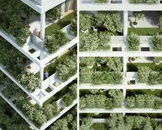 """Жилищният комплекс """"Панда"""", намиращ се в Хайдарабад - столица на щата Телангана, Югоизточна Индия, разполага с127 апартаментаи се разпростира върху 41 806 квадратни метра. Най-впечатляващото на огромнияжилище блоке """"зелената"""" фасада, която на практика представлява огромна вертикална градина, в която са посадени различни ниски и по-високи растения."""
