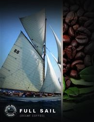 Put the wind in your sails with the fine blend of mellow and medium-bodied roast with very low acidity. Our decaf process is, of course, the chemical free Swiss Water method. This gourmet whole bean DECAF coffee is certified Fair Trade and Organic. It is micro-roasted to our specifications just before we receive it. Profits from the sale benefit well building in Rwanda.
