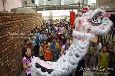 There is a small  Chinese community living in Kolkata  who celebrated the Year of the Tiger on  14th Feb. It is the Chinese New Year and this is the year of the Tiger. After every twelve years, the Tiger comes back again.    (c)Amitabha Gupta Unauthorized use or reproduction for any reason is prohibited. Please contact me personally for any use of this photograph