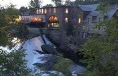 Simon Pearce Glass works, on the Quechee River