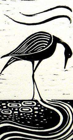 magpie lino print - Google Search                                                                                                                                                                                 More