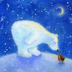 Christmas (by category) « Jan Pashley – Illustration / Design Winter Pictures, Christmas Pictures, Christmas Art, Illustrations, Illustration Art, Watercolor Christmas Cards, Bear Art, Winter Art, Christmas Illustration