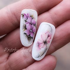 Obraz może zawierać: co najmniej jedna osoba i zbliżenie Rose Nail Art, Rose Nails, Flower Nail Art, Pink Nails, Gel Nails, Uñas One Stroke, One Stroke Nails, Flower Nail Designs, Nail Art Designs