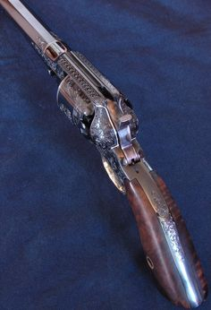 Remington 1858 New Model Army Cap & Ball, engraved by Chris Malouf    (Completed in August, 2008) Guns of the Old West