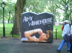 """Amy Outhouse"" spotted in Central Park, New York City."