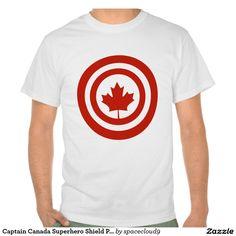 Captain Canada Superhero Shield Parody T-shirt