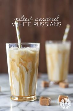 Salted Caramel White Russians | inspiredbycharm.com