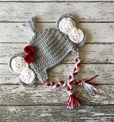 Little Miss Crimson Tide inspirado elefante gorrita tejida /