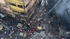 Firefighters are seen at the scene of a fire in Dhaka on February Bengali News, Dhaka Bangladesh, Asia News, Latest World News, Image Caption, Ground Floor, All Over The World, Holiday Decor, Building