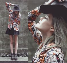Floral shirt (by Laura Allard-Fleischl) http://lookbook.nu/look/3747977-floral-shirt