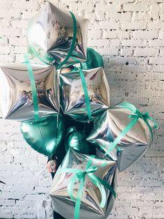 Silver-black-white-turquoise-foil-balloons-tropical-birthday-party-ideas-photozone