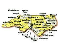 N.C. - North Carolina Cities