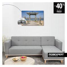 Designul în linii drepte și picioarele contrastante conferă canapelei Norway un farmec aparte. #living #canapea #blackfriday