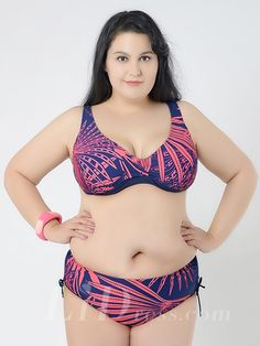 Red Printing New Style Plus Size Sexy Womens Bikini Suit Lidyy1605241041