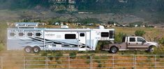 Tow Vehicles for Horse Hauling | Expert advice on horse care and horse riding Tent Camping, Outdoor Camping, Hunting Outfitters, Water In The Morning, Fifth Wheel Trailers, Rodeo Cowboys, Horse Trailers, Livestock Trailers, Horse Stables