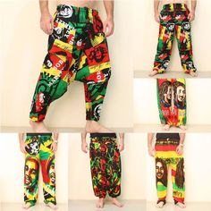 Bob Marley Pants Rave Wear Hippie Fashion Rasta Wholesale Clothing
