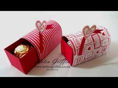 Stampin'Up! Ferrero Rocher Valentines Mini Post Box Tutorial - YouTube