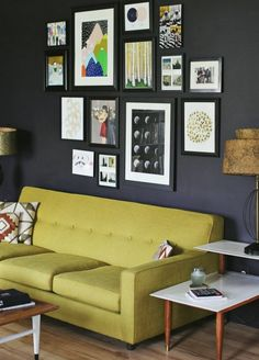 Why You Should be Afraid of Eclectic Gallery Art Walls - laurel home | via a beautiful mess | how to get the spacing and size perfect every time
