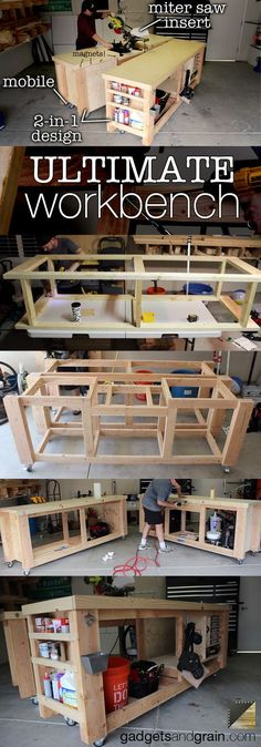 DIY Mobile & Modular Workbench To Bring Your Shop to the Next Level