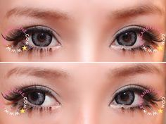 Girly Chip Contacts. Girly Chip colored contacts are part of Popteen model Kumiko Funayama's adorable and sweet look! The beautiful flower pattern will open up your eyes and make them blossom. circle lens,circle lenses,colored contacts,eyecandys, circle lens giveaway,circle lens review,big eyes,eyecandys