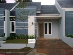 Minimalist house type 21 is included in a small house with an area of square meters. Considering that this model house has a very sma. Minimalist House Design, Minimalist Home, Large Homes, Types Of Houses, Model Homes, Little Houses, Small Living, Simple Designs, Minimalism