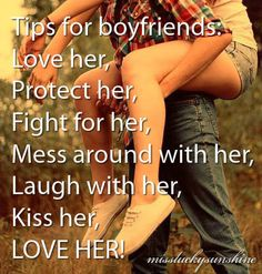 Tips for Boyfriends