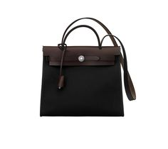 Hermès - Herbag Zip 31 - Black Toile Offcier/Ebony Hunter with palladium plated hardware
