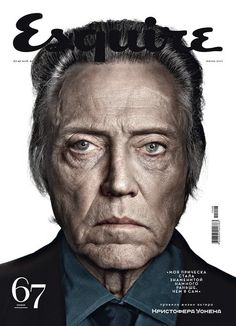 Dan Winters Esquire cover of Christopher Walkin.