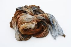 silk scarf  Simply Versailles  brown cognac grey silk by valezhki, $35.00