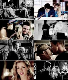 You could be my hero, if only I could let go. But his love is still in me, like a b r o k e n arrow #Olicity