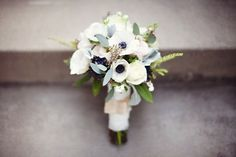 pretty peach / grey bouquet