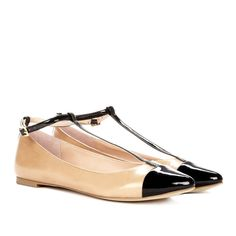 Sole Society Addyt-strap flat (83 AUD) ❤ liked on Polyvore featuring shoes, flats, shoes flats, beach tan black, black strappy flats, flat pumps, tan leather flats, t-strap flats and pointed-toe ankle-strap flats