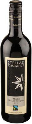 Stellar Organic Red Wine Merlot South Africa 13.5% Vegan, FairTrade, 75cl