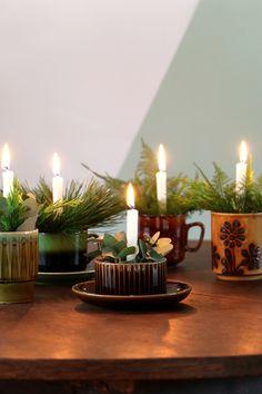 Mini kerststukjes voor vtwonen  Fotografie: Marij Hessel / My Attic