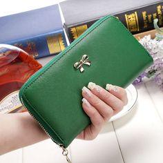 Women Wallets Purses 2016 Fashion Wallets Female Zipper PU Cute Leather Solid wallet Coin clutch phone bag carteras mujer B005