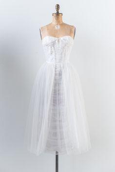 1950s Sweetheart Tulle Dress - XS